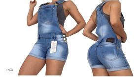 Macaquinho Jardineira Jeans Set For Estilo Pit Bull