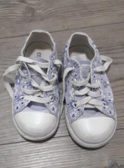 Zapatillas Converse Lona Nena Talle 24. Hermosas!