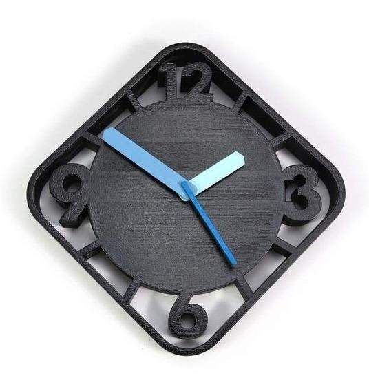 Relógio De Parede 3d Impresso Em Abs - Ponteiros Coloridos