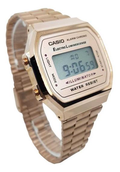 Reloj Casio Rose Gold Clasico Rosa A168 Retro Vintage