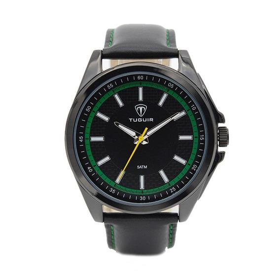 Relógio Masculino Tuguir Analógico 5044 Preto E Verde