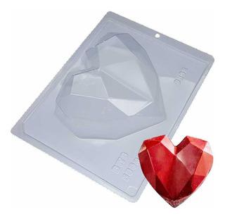 Forma Coração Lapidado 500g C/ Silicone Ref. 9838 - 2 Formas