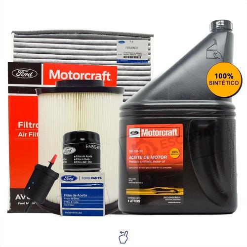 Imagen 1 de 10 de Kit 4 Filtros Ford Focus + Aceite Sintético Motorcraft 5w30