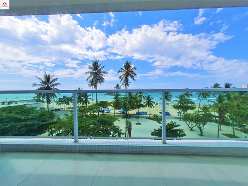 Imagem 1 de 17 de Apartamento À Venda Na Praia Das Pitangueiras, Guarujá, Frente Par Ao Mar, 3 Dormitórios (1 Suíte), Sala Para 3 Ambientes, 1 Vaga De Garagem - Ap05612 - 69007960