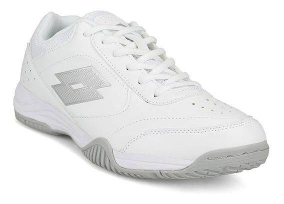 Zapatillas Lotto Court Logo Xvi - Blanco Y Gris