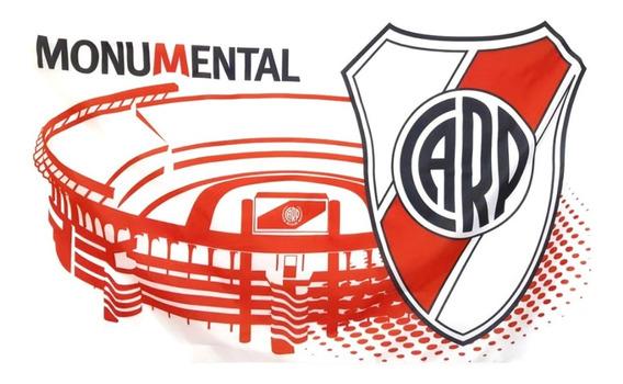 Bandera River Plate 120 X 194 Cm Con Licencia Oficial