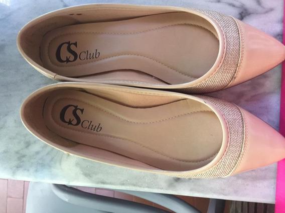 Zapatos Carmen Steffens Camel Con Aplique De Bambú, Talle 36