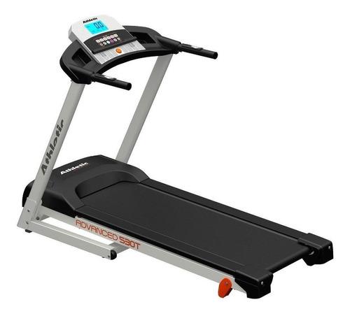 Cinta de correr eléctrica Athletic Advanced 530T 220V negra y gris
