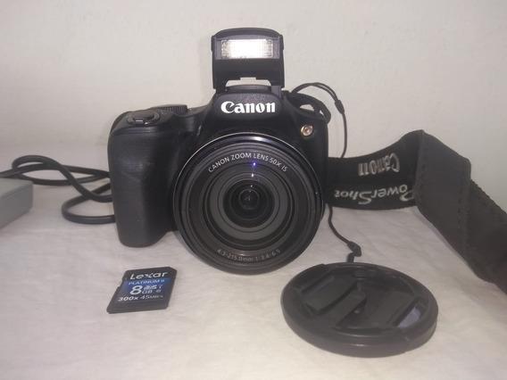 Câmera Canon Powershot Sx530hs Semipro Seminova + Cartão 08g