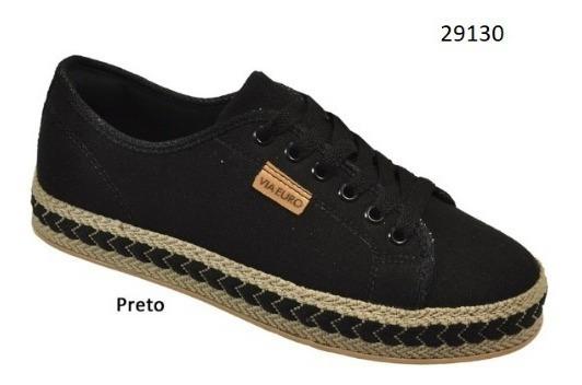 Tênis Via Euro Feminino Preto Ref.29130