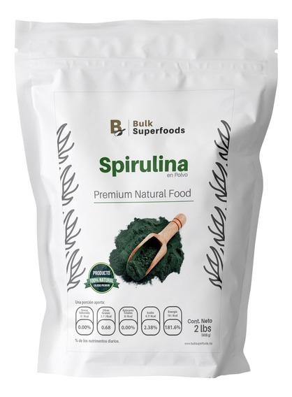 Alga Spirulina En Polvo 2 Lbs. Natural Premium Food - Bulk