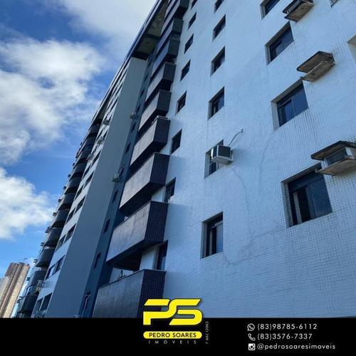 Apartamento Com 3 Dormitórios À Venda, 130 M² Por R$ 470.000 - Miramar - João Pessoa/pb - Ap3575