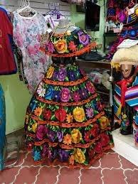 Traje Tradicional De Chiapaneca Para Dama De Petatillo