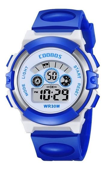 Reloj Infantil Led Niño Niña Alarma Digital Contra Agua Co0919