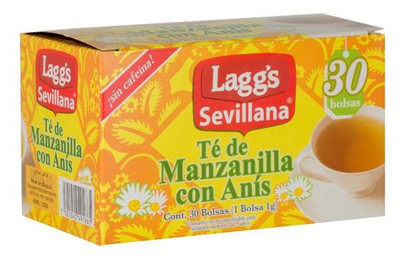 Té De Manzanilla Con Anis Lagg S 30 Sobres Mercado Libre