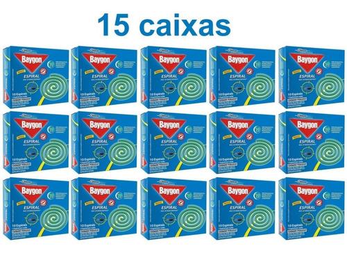 Kit 15 Caixas Repelente Baygon Espiral Contra Mosquitos