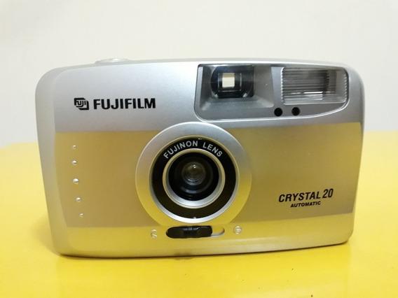 Câmera Fotográfica Fuji Cristal 20 Analógica Antiga
