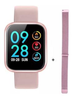 Relógio Smartwatch P70 Com Pulseira Extra + Película