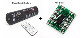 Conjunto 1 Placa Decodificadora 5 - 7,5 V + Pam 8403