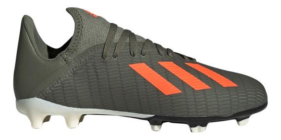 Botines Con Tapones adidas Futbol X 19.3 Fg J Mi/ol