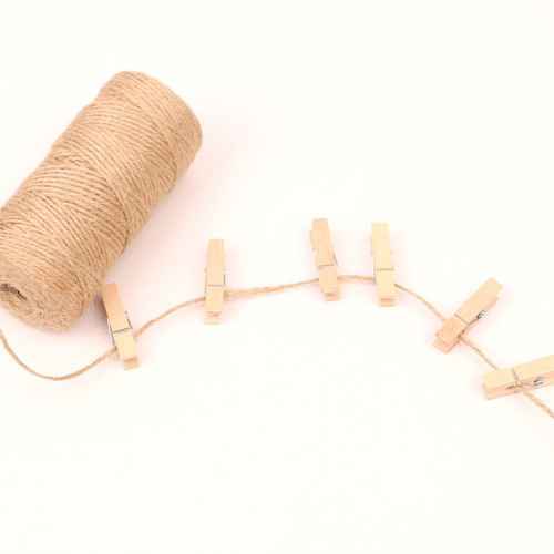 decoraci/ón de jard/ín 100 m Da.Wa Cuerda de yute de 100 m de espesor para florister/ía Cuerda de c/á/ñamo beige manualidades