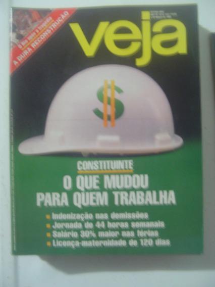 Revista Veja 1017 Enchente No Rio De Janeiro Monarquia 1988