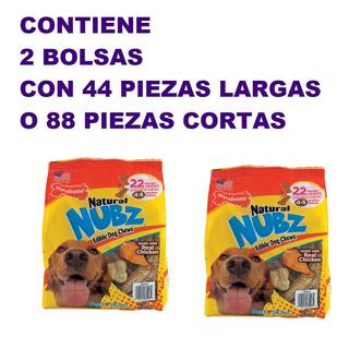 Comida Perro Golosinas Naturales Nubz Pollo 44 Pz Largas