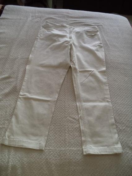 Pantalon Capri Jeans Apt 9 Dama 10 Blanco Strech Recto