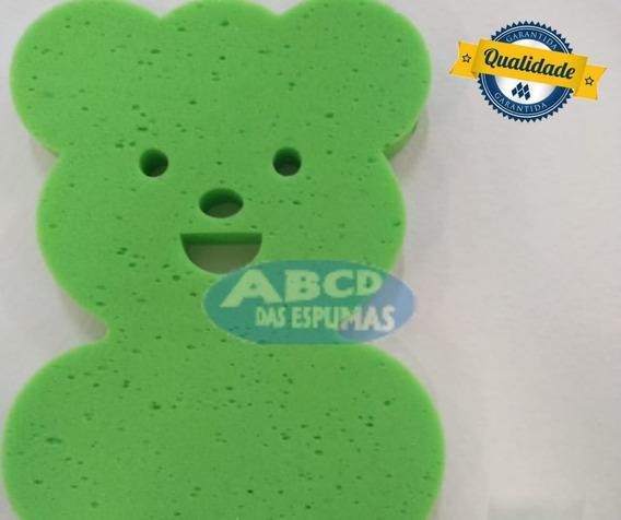 Espuma De Banheira Bebe Anti Derrapante Urso Verde+ Brinde