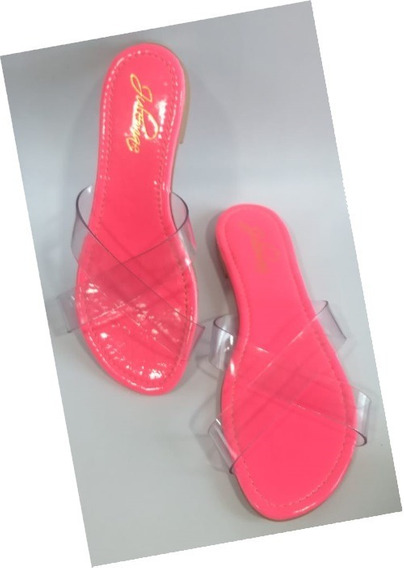 Rasteirinha Neon Rosa Tam 36