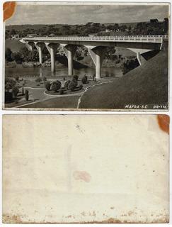 Sc Anos 50 Cartão Postal Foto Ponte Rio Negro Br-116 Mafra