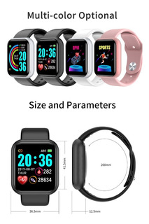 Relógios Dwaterproof Pressão Arterial Cardíaca Android Ios