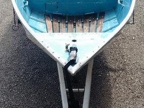 Barco De Aluminio Com Carreta Em Ótimo Estado.