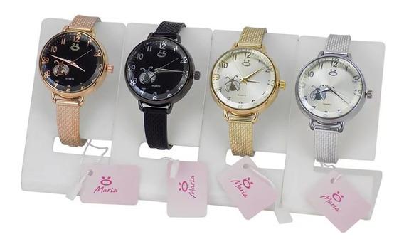 Kit 4 Relógio Feminino Original Pulseira Ajustável