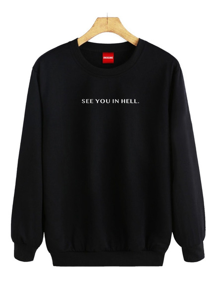 Sudadera Hombre Dama See You In Hell Netflix Sueter #654