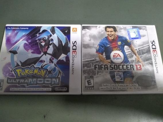 Pacote Pokémon Ultra Moon + Fifa Soccer 13 Nintendo 3ds!!!