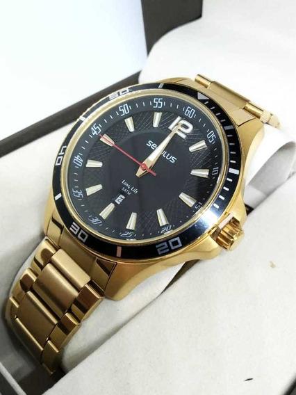 Relógio Masculino Seculus Dourado 77033gpsvda1 Nfe/original