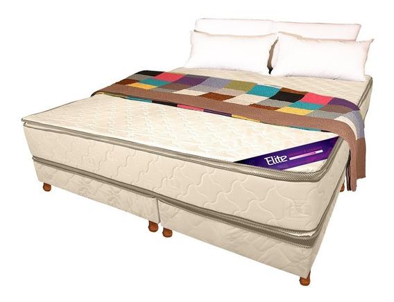 Sommier Colchon King Size 2x2   Espuma Magno   Doble Pillow