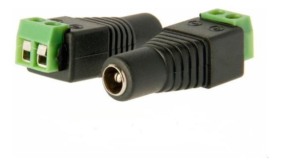 Ficha Plug Hembra 5.5 X 2.1mm Bornera Led Camaras Cctv