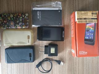 Celular Motorola Xt916 Razr D1 Dual Chip Com Pelicula E Capa