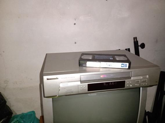 Vídeo Cassete Panasonic Nv Sj405 5 Cabeças Mono Funcionando