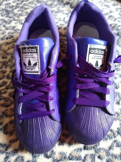 Zapatillas adidas Superstar Violetas No Nike No Reebok
