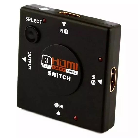Switch Hub Divisor 4 Portas Hdmi 1.3 1080p