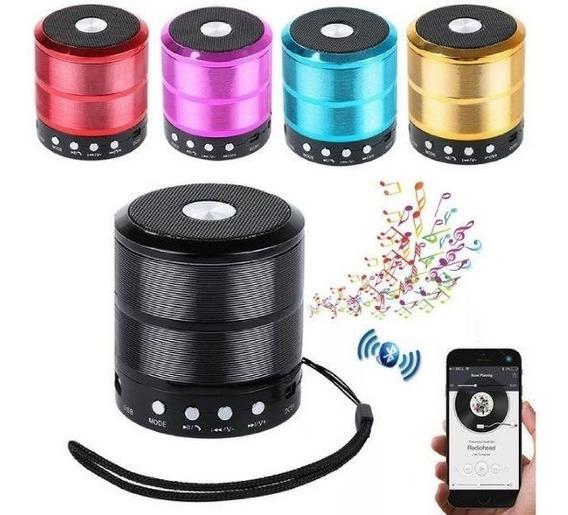 Caixa De Som Portátil Bluetooth Fm Pen Drive Top Caixa