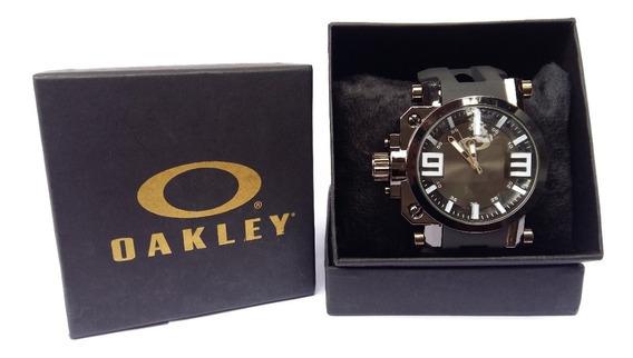 Relogio Esportivo Oakley Gearbox Titanium Com Caixa, Barato