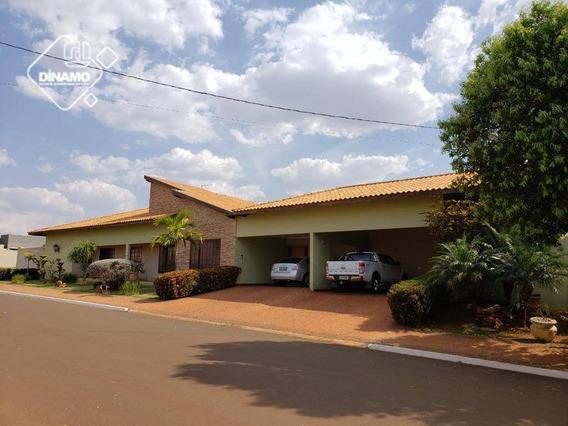Casa Térrea Com 4 Dormitórios À Venda, Condomínio Residencial Ana Carolina - Cravinhos/sp - Ca1434