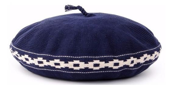 Boinas Pampa De Hilo Azul Y Beige