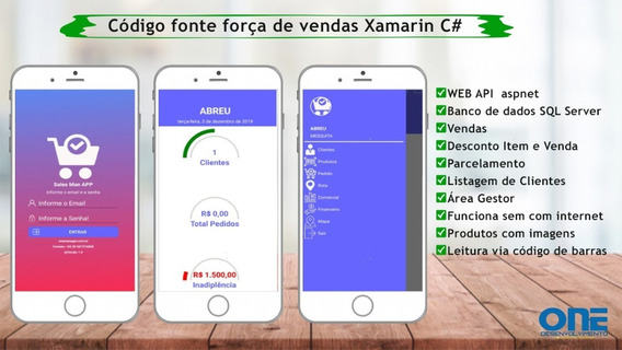 Codigo Fonte Força De Vendas Xamarin C# Android