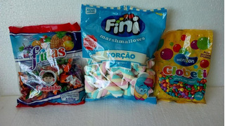 Kit Marshmallow, Confete De Chocolate , Bala Dimbinho