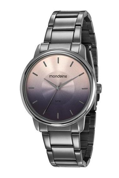 Relógio Mondaine Feminino 53606lpmvse9 Preto Casual - Garantia E Nota Fiscal